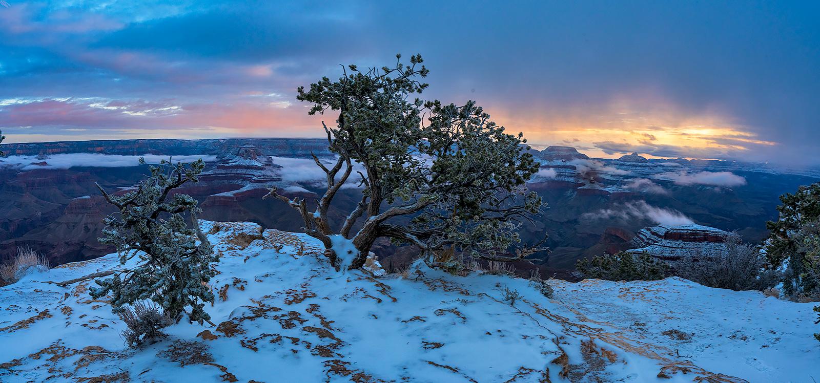 Yaki Point winter sunrise.