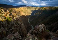 Black Canyon,Gunnison,sunset,Colorado