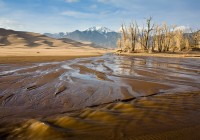 Medano Creek,great sand dunes,colorado