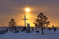 sun pillar,cemetery,Silver Cliff,Colorado