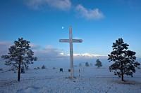 Ansel Adams,cemetary,moon,Silver Cliff,Colorado