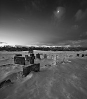 Silver Cliff,Colorado,cemetery,moonrise
