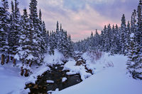 Brainard Lake, Indian Peaks, Colorado, snowstorm, sunrise