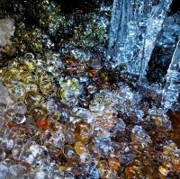 ice,falls,pebbles