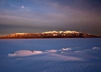 Winter,San Luis Lake,moonrise