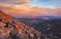 Mount Evans, Colorado,sunset