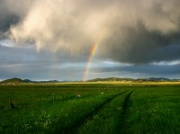 Westcliffe,Colorado,rainbow,storm