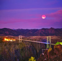 Royal Gorge,sunrise,eclipse,lunar eclipse