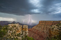 lightning, Grand Canyon, thunderstorm