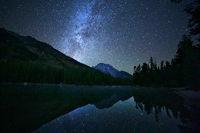 Leigh Lake,Grand Teton,night,Wyoming