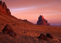 Shiprock,New Mexico,sunrise