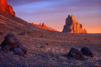 Shiprock,New Mexico,sunrise