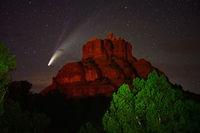 comet, NEOWISE, Sedona, Bell Rock,Arizona