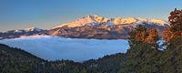 Rampart Range,fog,Colorado,Woodland Park,sunrise