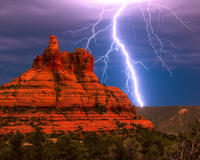 sunset, bell rock,sedona,arizona,storm