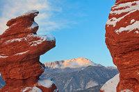 Pikes Peak,Siamese Twins,Garden of the Gods,Colorado