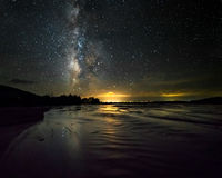 Milky Way, night, Medano Creek, Great Sand Dunes, Colorado