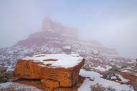 Valley of the Gods, Utah, fog