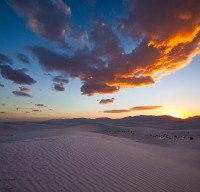 sunset,white sands,new mexico