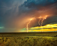 thunderstorm, San Luis, Great Sand Dunes, Colorado, sunset, lighting