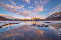 Mount Rundle,Banff,sunset