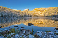 Bear Lake,Rocky Mountain National Park,Colorado,snow,sunrise