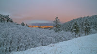 Blodgett Peak, Colorado, snow, sunset