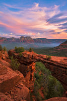 Devil's Bridge,sedona,smoke,sunrise