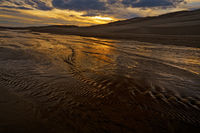 Medano Creek,Great Sand Dunes,Colorado,sunset
