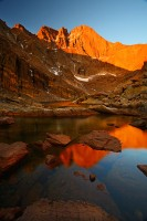 Longs Peak,Chasm Lake,Rocky Mountain National Park, Colorado