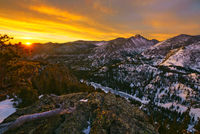 Flattop Mountain, sunrise, winter, rocky Mountain National Park, Colorado