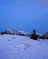 Sawatch,moonset,Twin Lakes,Colorado