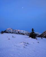 Sawatch,moonset,Twin Lakes,Colorado