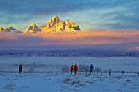 Grand Teton,sunrise,Wyoming