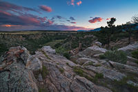 graneros gorge,sunset,colorado
