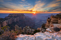 Wooten's Throne,Cape Royal,Grand Canyon,sunset,north rim