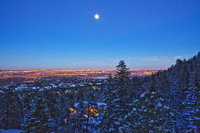 moonrise,Colorado Springs,Colorado