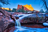 Seven Sacred Pools,Sedona,rain,snow,winter