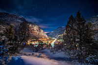 Ouray,colorado,night