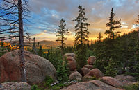 Pancake Rocks,Pikes Peak,woods