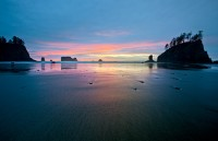 Second Beach,Olympic,Washington,sunset