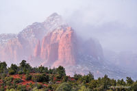 foggy,Sedona,thunder mountain