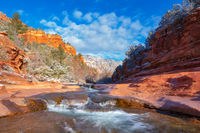 Slide Rock,winter
