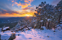 Mogollon Rim,sunset,winter
