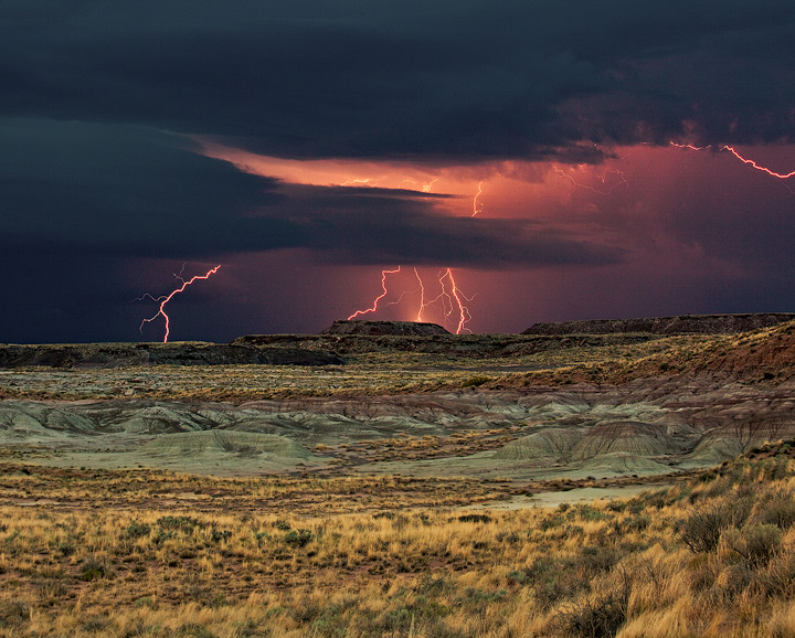 monsoon,petrified forest,arizona