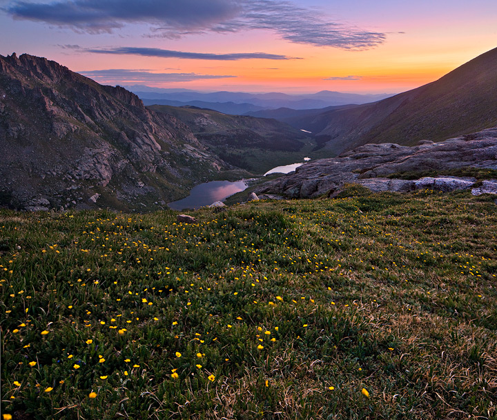 Mount Evans,Chicago Lakes Basin,sunrise