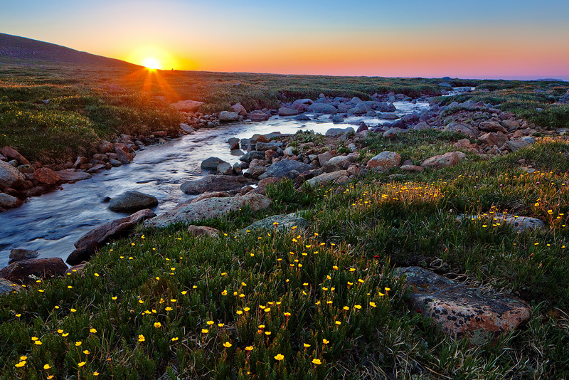 Mount Evans, Colorado,sunrise,Summit Lake