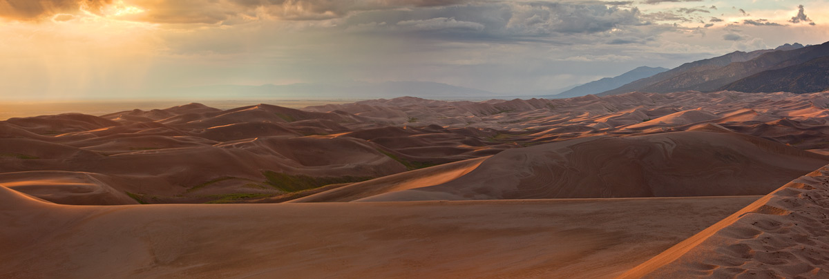 Great Sand Dunes,panorama,sunset