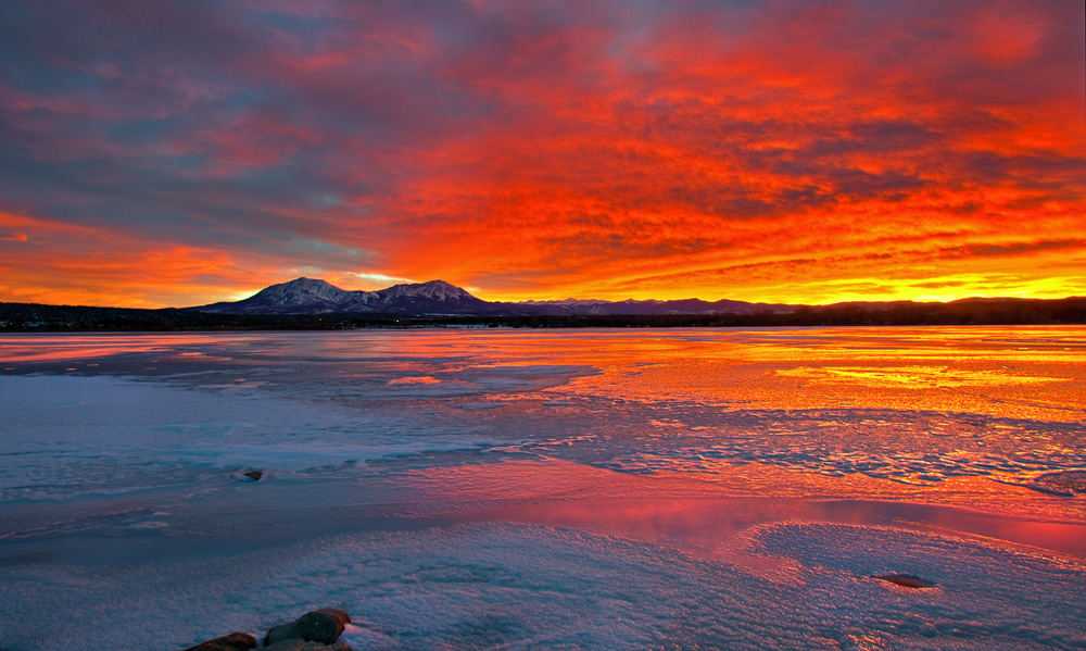 Lathrop State Park, Colorado,sunset