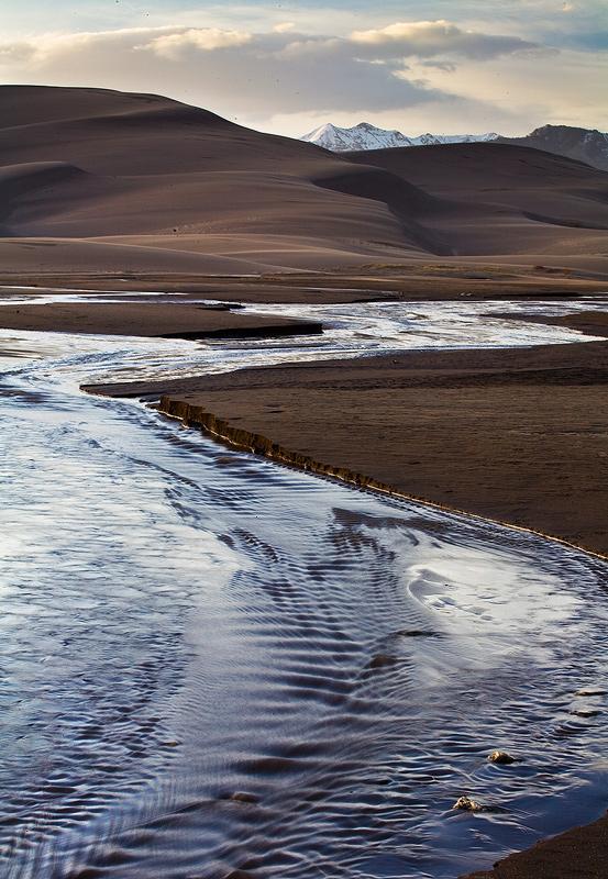 Great Sand Dunes,Medano Creek,Colorado, photo